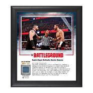 Sami Zayn Battleground 2016 15 x 17 Commemorative Framed Plaque w Ring Canvas