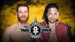 TO Dallas Shinsuke Nakamura vs. Sami Zayn