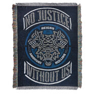 The Shield No Justice Without Us Throw Blanket