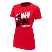 Johnny Gargano Johnny Wrestling Women's Authentic T-Shirt