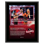 WrestleMania 36 Becky Lynch 10 x 13 Limited Edition Plaque
