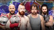 SS 2017 Cesaro & Sheamus v Ambrose & Rollins