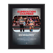 Asuka Elimination Chamber 2018 10 x 13 Commemorative Photo Plaque