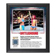 Bayley & Sasha Banks Battleground 2016 Commemorative 15 x 17 Framed Plaque w Ring Canvas