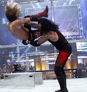 Taker chokeslam edge