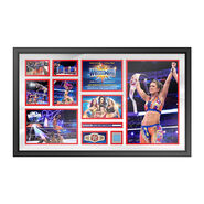 Bayley WrestleMania 33 Signed Commemorative Plaque