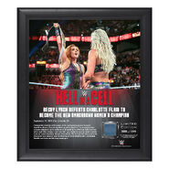 Becky Lynch Hell in a Cell 2018 15 x 17 Framed Plaque w Ring Canvas