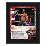 Seth Rollins SummerSlam 2018 10 x 13 Commemorative Plaque