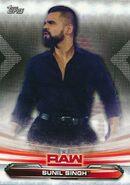 2019 WWE Raw Wrestling Cards (Topps) Sunil Singh 70