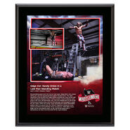 WrestleMania 36 Edge 10 x 13 Limited Edition Plaque