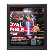 AJ Styles Royal Rumble 2018 15 x 17 Framed Plaque w Ring Canvas