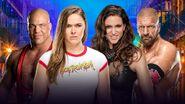 WM 34 Angle & Rousey v HHH & Stephanie