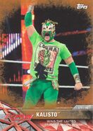2017 WWE Road to WrestleMania Trading Cards (Topps) Kalisto 6