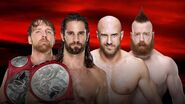 Dean Ambrose and Seth Rollins vs Cesaro and Sheamus