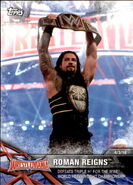 2017 WWE Road to WrestleMania Trading Cards (Topps) Roman Reigns 67