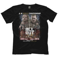 All Out Matchup Chris Jericho Vs Hangman Adam Page (Front Print Only)