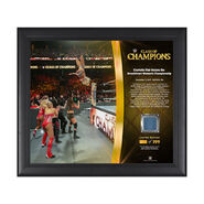 Charlotte Flair Clash of Champions 2017 15 x 17 Framed Plaque w Ring Canvas
