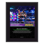 Cedric Alexander WrestleMania 34 10 x 13 Photo Plaque