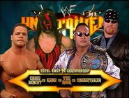 Chris Benoit vs. Kane vs. The Rock vs. Undertaker Unforgiven 2000