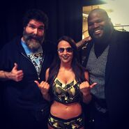 Tenille Dashwood + Mick Foley + Mark Henry - March 2018