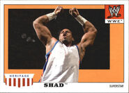 2008 WWE Heritage IV Trading Cards (Topps) Shad 44