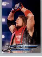 2018 WWE Wrestling Cards (Topps) AJ Styles 2