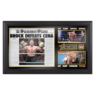 Brock Lesnar & Paul Heyman Signed Eat Sleep Suplex Repeat Limited Edition Plaque