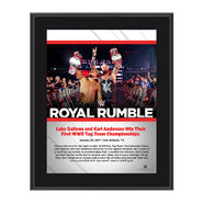 Luke Gallows and Karl Anderson Royal Rumble 2017 10 x 13 Commemorative Photo Plaque