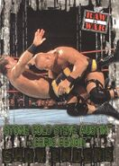 2001 WWF RAW Is War (Fleer) Stone Cold Steve Austin vs. Chris Benoit 87