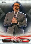 2019 WWE Raw Wrestling Cards (Topps) Michael Cole 48