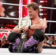 WWE0001 Chris Jericho with CM Punk's wwe championship