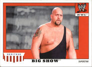 2008 WWE Heritage IV Trading Cards (Topps) Big Show 5