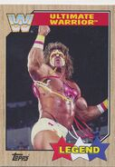 2017 WWE Heritage Wrestling Cards (Topps) Ultimate Warrior 99