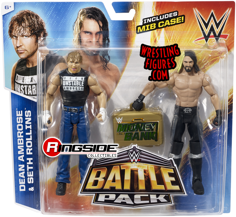 Wwe Battle Packs 36 Seth Rollins Dean Ambrose Pro Wrestling