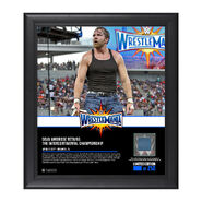 Dean Ambrose WrestleMania 33 15 x 17 Framed Plaque w Ring Canvas