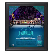 Evolution 2018 Trish & Lita 15 x 17 Framed Plaque w Ring Canvas