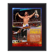 Seth Rollins SummerSlam 2015 10.5 x 13 Photo Collage Plaque