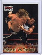 2001 WWF RAW Is War (Fleer) Triple H vs. The Rock 54