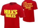 """Hulk Hogan """"Hulk's Rules"""" T-Shirt"""