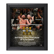SAnitY NXT TakeOver Brooklyn 2017 15 x 17 Framed Plaque
