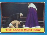 1987 WWF Wrestling Cards (Topps) The Loser Must Bow (No.34)
