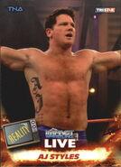 2013 TNA Impact Wrestling Live Trading Cards (Tristar) AJ Styles 60