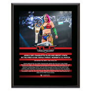 Asuka TLC 2018 10 x 13 Commemorative Plaque