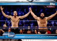 2019 WWE Road to WrestleMania Trading Cards (Topps) Rusev & Aiden English 74