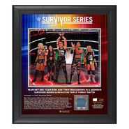Team NXT Survivor Series 2019 15x17 Limited Edition Plaque