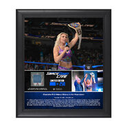 Charlotte Flair Makes History 15 x 17 Framed Plaque w Ring Canvas