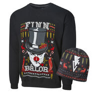 Finn Balor Ugly Holiday Sweatshirt & Beanie Package