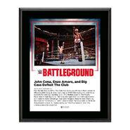 John Cena and Enzo & Big Cass Battleground 2016 10 x 13 Commemorative Photo Plaque