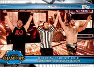 2019 WWE Road to WrestleMania Trading Cards (Topps) Kevin Owens & Sami Zayn 78