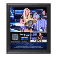 Alexa Bliss 2-Time SmackDown Women's Champion Framed Plaque w Ring Canvas
